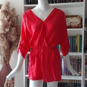 NWT Windsor coral red romper